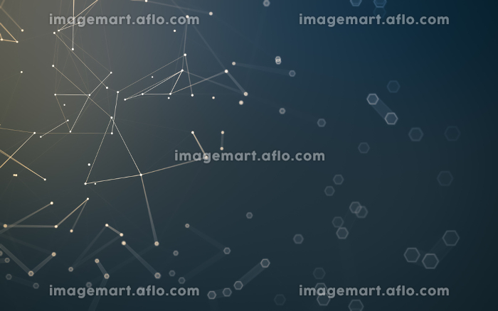 Abstract polygonal space low poly dark background, 3d renderingの販売画像