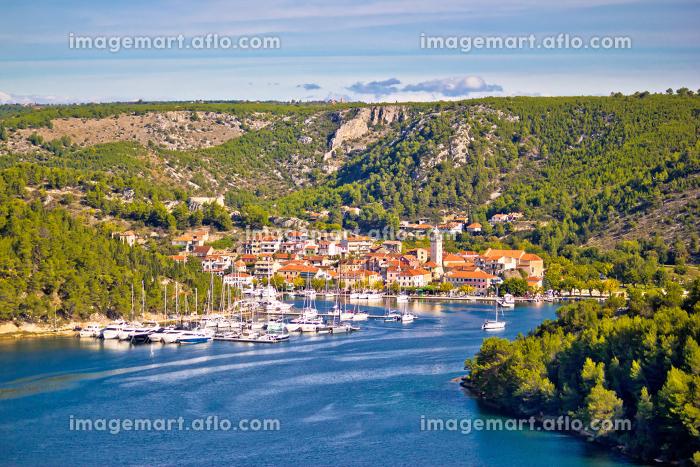 Town of Skradin on Krka river