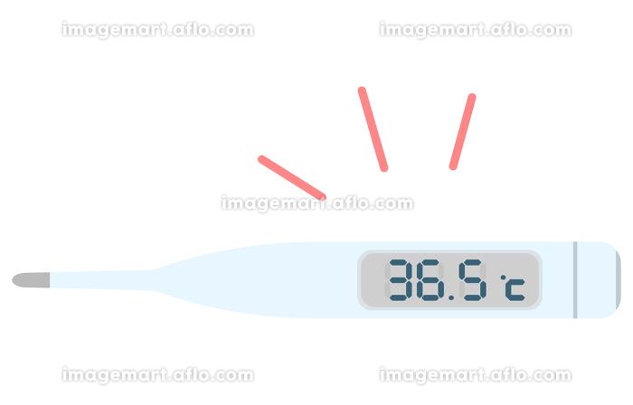 36.5度を示す体温計のイラスト