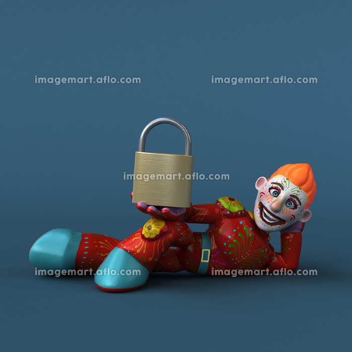 Mexican hero - 3D Illustrationの販売画像