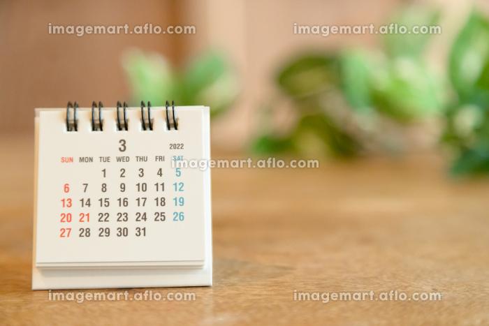 2022年3月の卓上カレンダーの販売画像