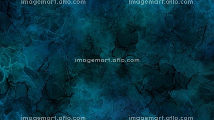 暗い青と黒のアルコールインクアートの背景テクスチャ素材の販売画像