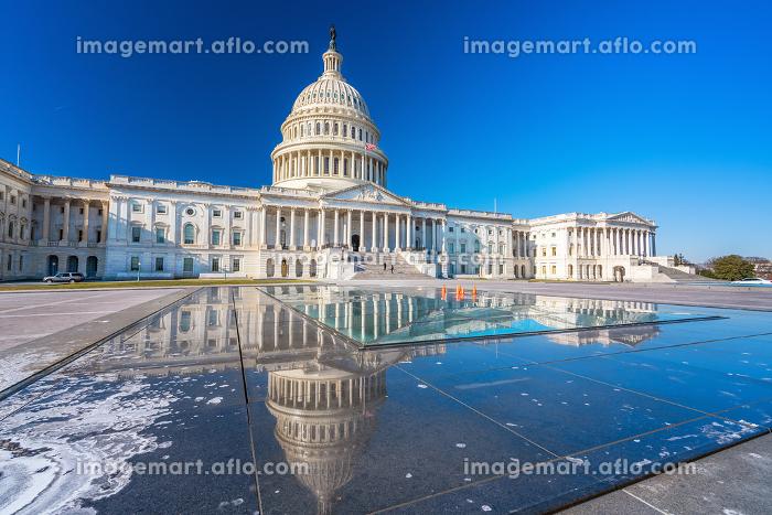 US Capitol at winter sunny dayの販売画像