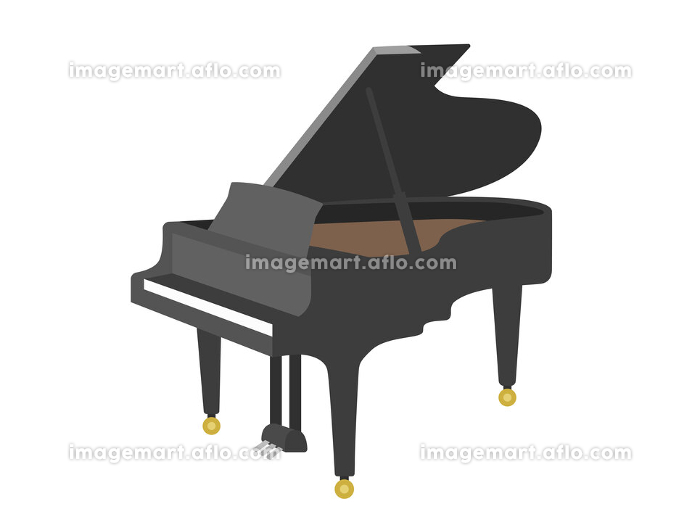 楽器のピアノのイラストの販売画像