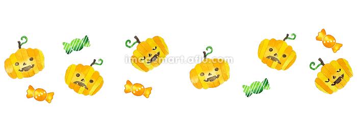 ほんわか水彩ハロウィンのかぼちゃの販売画像