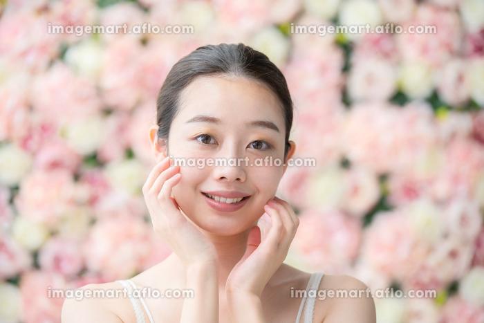 美容イメージ(花背景)の販売画像