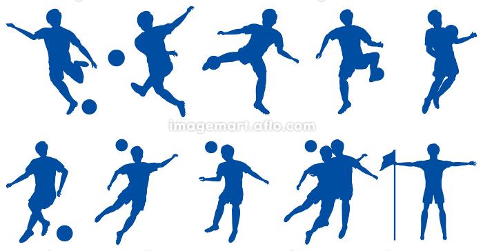 サッカー選手シルエットセットの販売画像