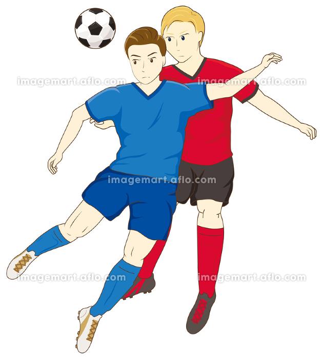 サッカーをする男性07の販売画像