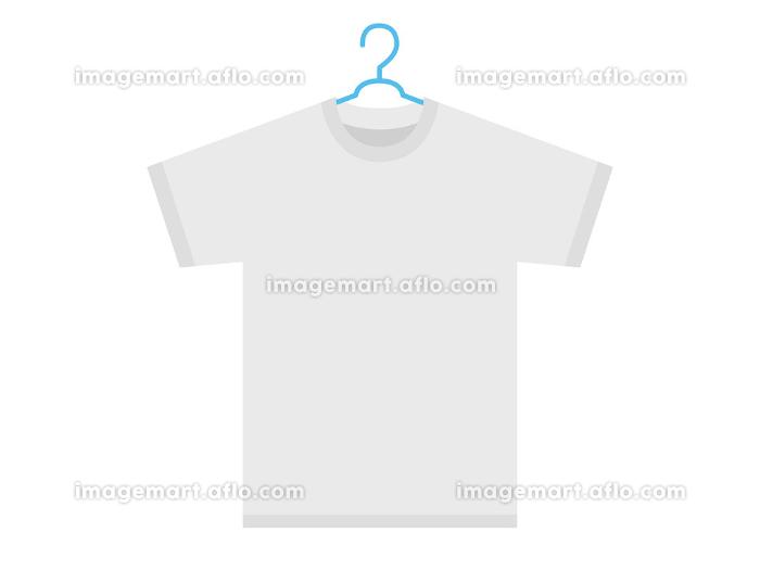 Tシャツをハンガーで干すイラストの販売画像