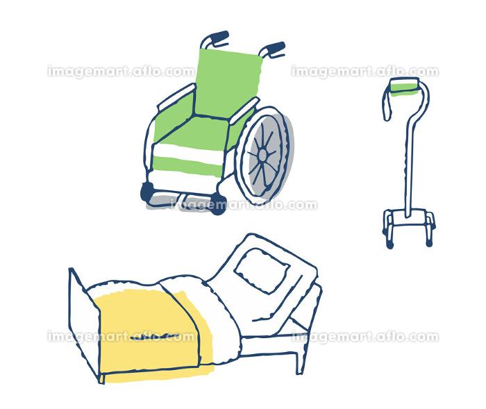 介護用品 車いすと介護用ベッドと歩行器の販売画像