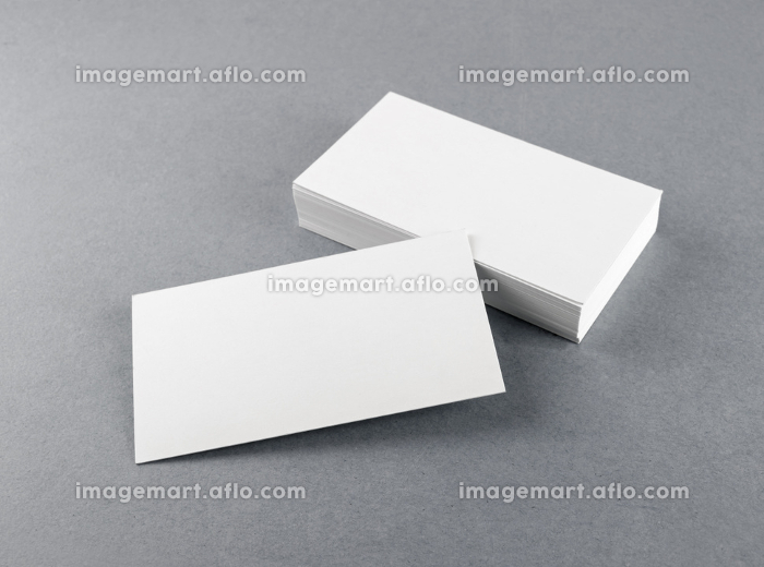 Blank white business cardsの販売画像