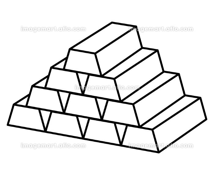 金塊(モノクロ)の販売画像