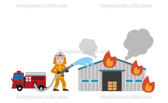 倉庫 火災 消火の販売画像