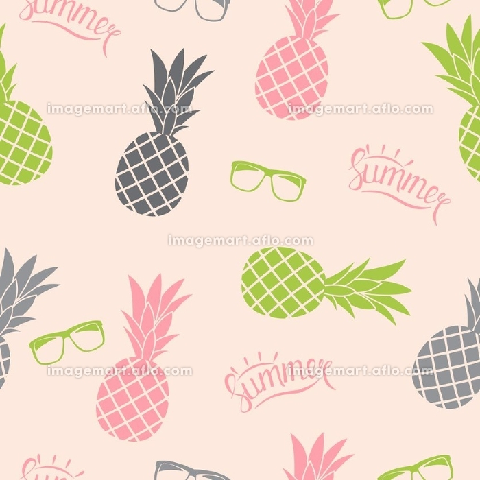 Pineapple Natural Seamless Pattern Background Vector Illustration EPS10. Pineapple Natural Seamless Pattern Background Vector Illustration
