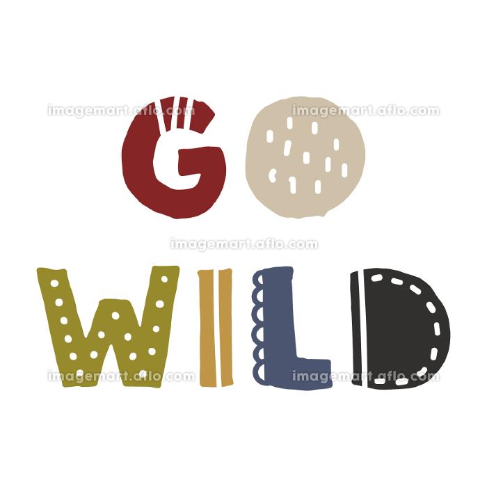 Go Wild、スカンジナビアンスタイルの手書きワードの販売画像