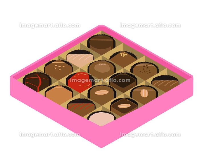 チョコレート アソート ピンクの箱 アイソの販売画像