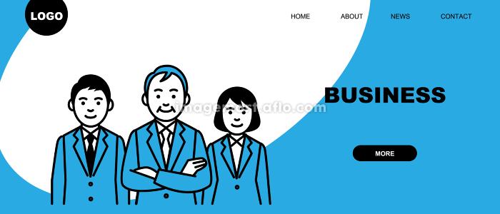 ビジネスのWebページテンプレート ランディングページのデザインの販売画像