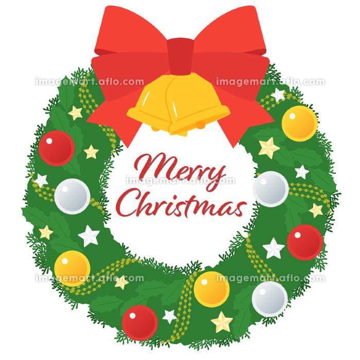 クリスマスリース/ボール飾りと星の販売画像