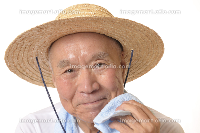 シニアの猛暑イメージの販売画像