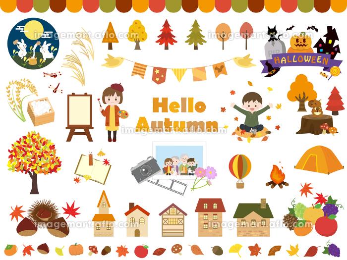 かわいい秋のイラスト素材の販売画像