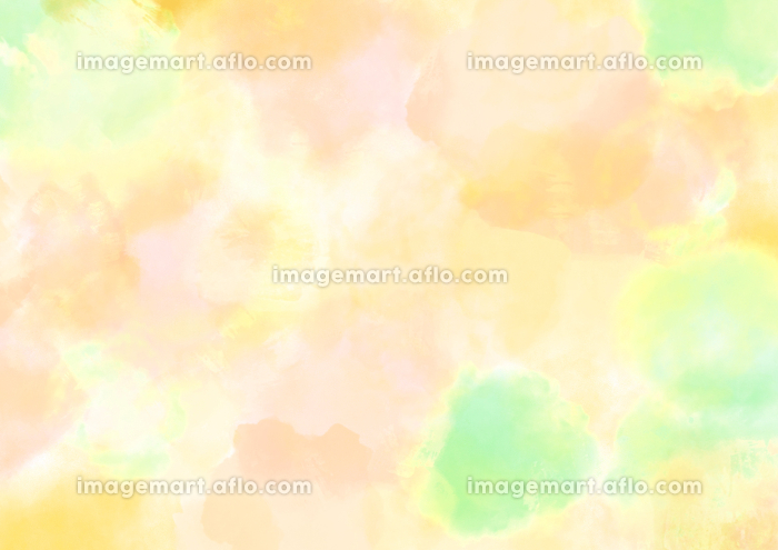 水彩調 アブストラクト背景 ビタミンカラーの販売画像