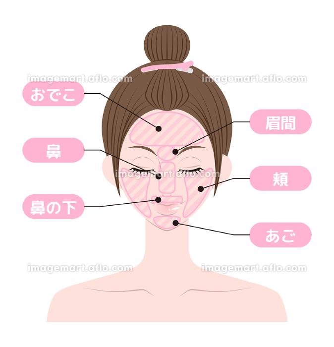 脱毛箇所 顔 女性の販売画像