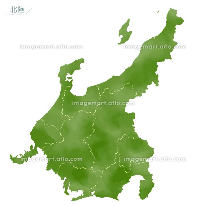 水彩風の日本地図 中部地方 イメージマート