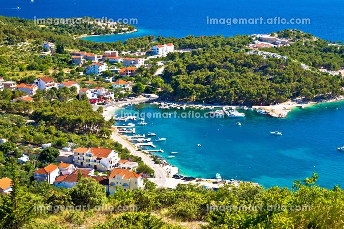 Aerial view of adriatic coastの販売画像