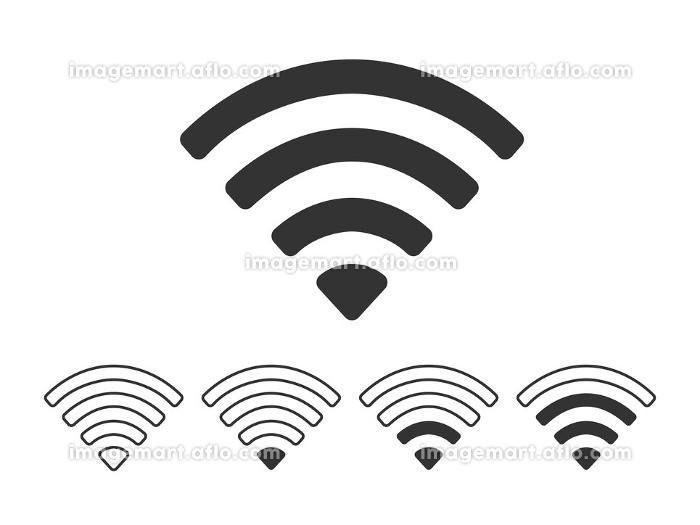 Wi-Fi電波のアイコンの販売画像