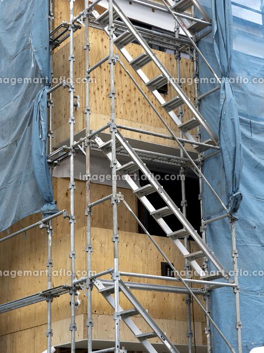 住宅の建設現場の販売画像