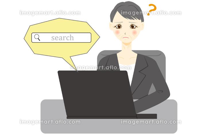 パソコン 女性 会社員 ミドル 検索の販売画像