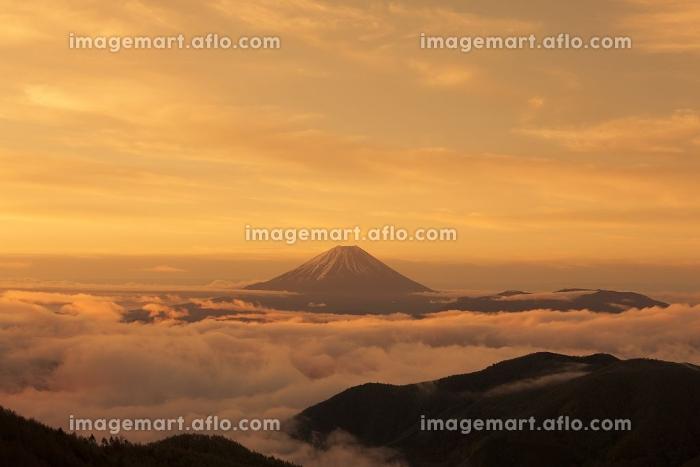 櫛形山からの富士山の販売画像
