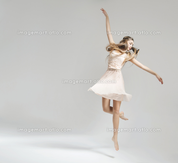 Beautiful and young ballet dancer