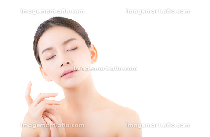 Beautiful girl with makeup, woman and skin care cosmetics concep