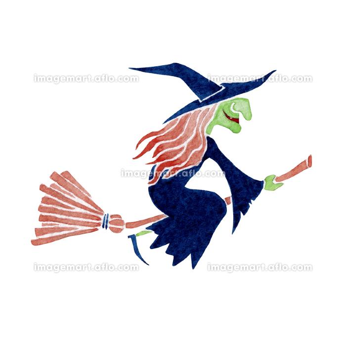 魔女 ハロウィン ハロウィーン モンスター 水彩 イラストの販売画像