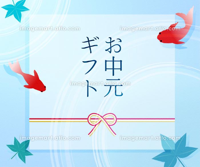 金魚と楓と波紋のお中元用バナー 300x250の販売画像