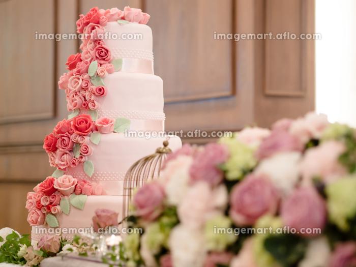 高砂とウェディングケーキの販売画像