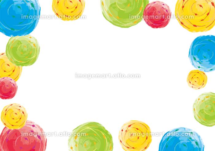 ヨーヨーのカラフルかわいい背景素材 夏 夏休み 夏祭り お祭り 縁日の販売画像