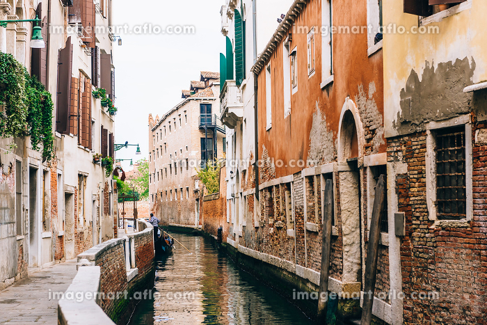 the old Venice streets of Italyの販売画像
