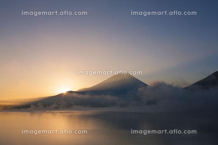 本栖湖からの日の出