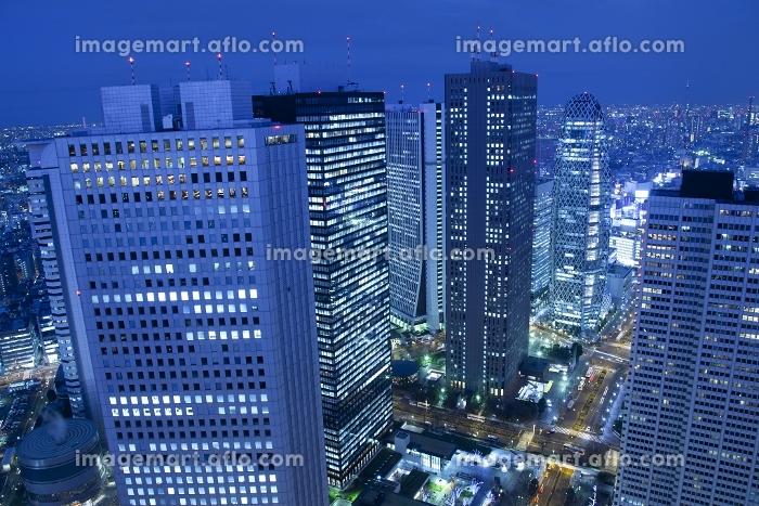 東京都 新宿ビル群の夜景の販売画像