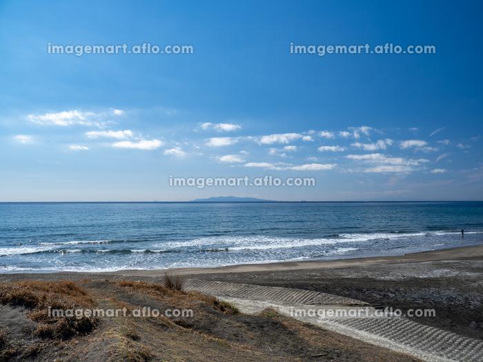 快晴の館山市 平砂浦海岸の風景 3月の販売画像