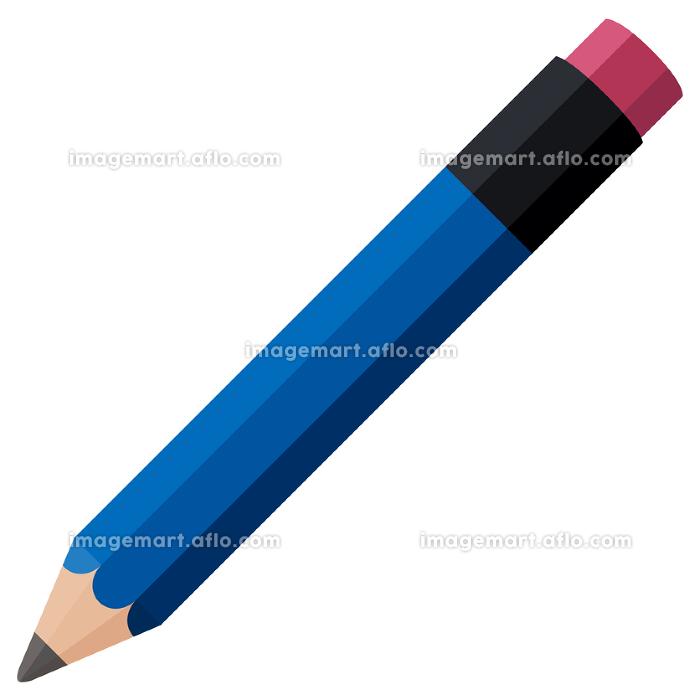 イラスト素材 えんぴつ エンピツ 鉛筆 筆記用具 傾斜 ベクターの販売画像