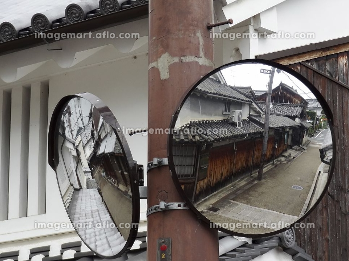 重要伝統的建造物群保存地区今井町の道路のカーブミラーの販売画像