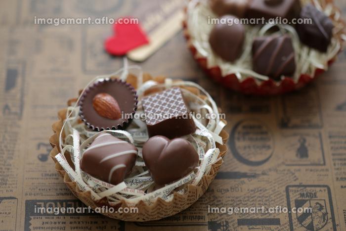 ハート型のバレンタインチョコレートの販売画像