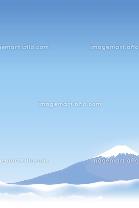 富士山と雲海 イラストの販売画像