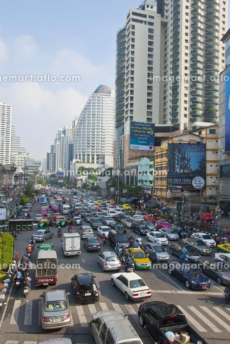 大渋滞のバンコク都内