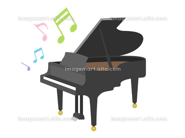 楽器のピアノを演奏するイラストの販売画像