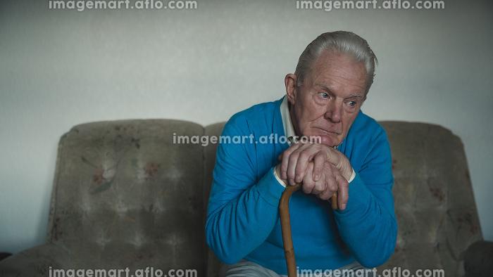 Lonely Senior Man at Homeの販売画像