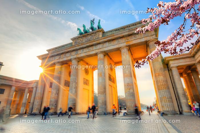Brandenburg gate at springの販売画像
